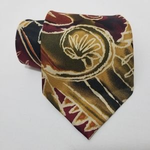 Other - 🔥 CLEARANCE 🔥 Abstract Floral Tie Cranberry Gold